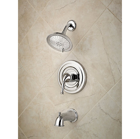 Polished Chrome Universal 1-Handle Tub & Shower, Trim Only - R90-TD1C - 2