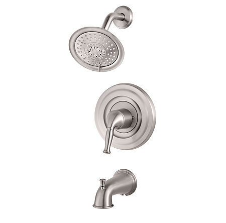 Brushed Stainless Steel Universal Tub and Shower - Trim Only - R90-TD1K - 1