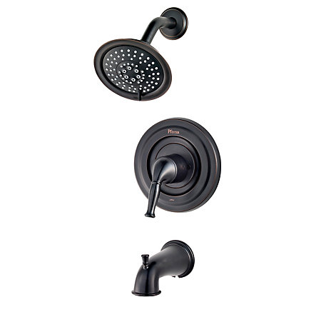 tuscan bronze universal tub and shower - trim only - r90-td1y - 1