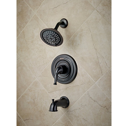 tuscan bronze universal tub and shower - trim only - r90-td1y - 2