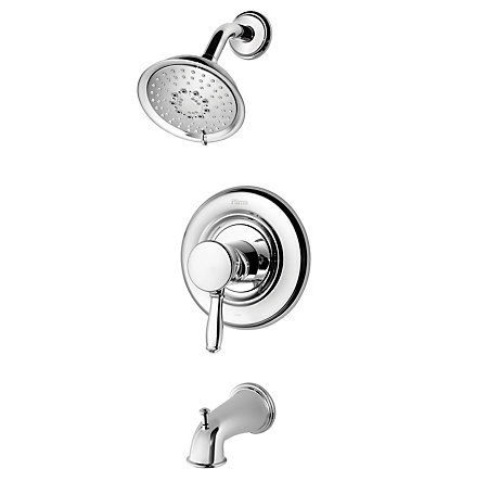 Polished Chrome Universal 1-Handle Tub & Shower, Trim Only - R90-TD2C - 1