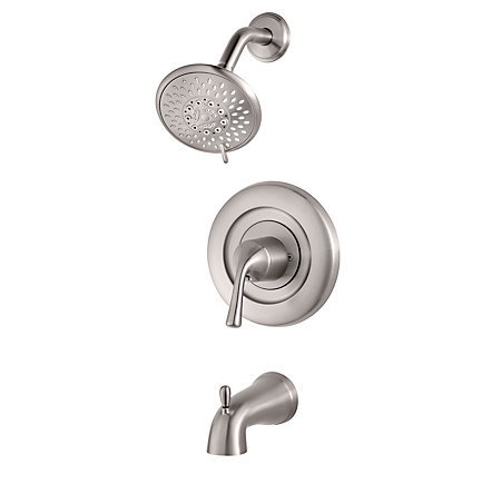 Brushed Stainless Steel Universal Tub and Shower - Trim Only - R90-TN1K - 1