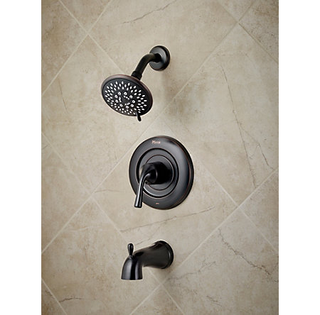 Tuscan Bronze Universal 1-Handle Tub & Shower, Trim Only - R90-TN1Y - 2