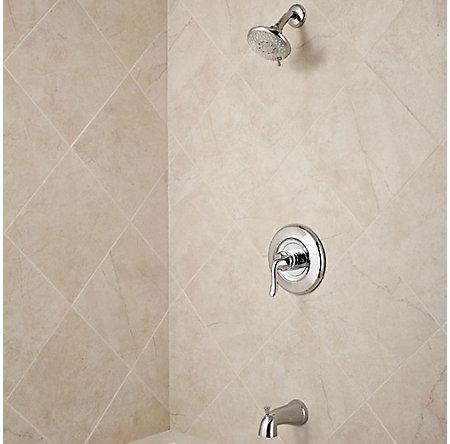 Polished Chrome Universal 1-Handle Tub & Shower, Trim Only  - R90-WS-TN2C - 2