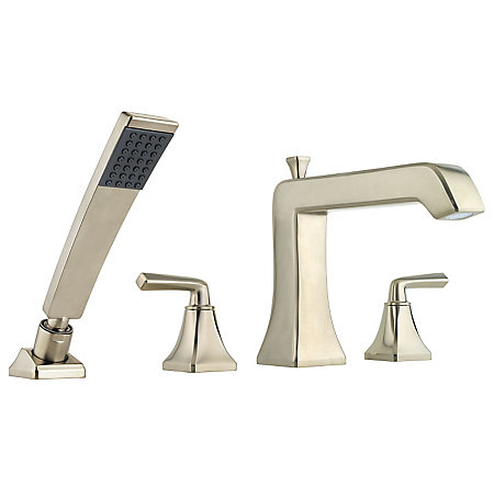 Brushed Nickel Park Avenue 4-Hole Roman Tub with Handshower, Trim Only - RT6-4FEK - 1