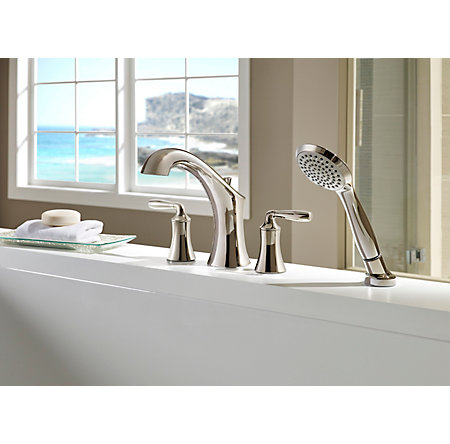 Polished Nickel Iyla 4 hole Roman Tub - RT6-4TRD - 2