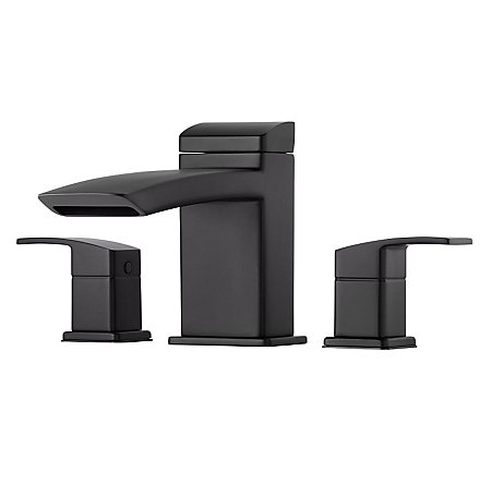 Black Kenzo 3-Hole Roman Tub, Trim Only - RT6-5D1B - 1