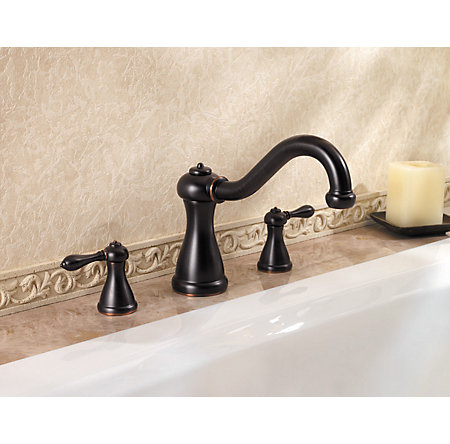 Tuscan Bronze Marielle 3-Hole Roman Tub, Valve and Handle Not Included - RT6-5MXY - 2