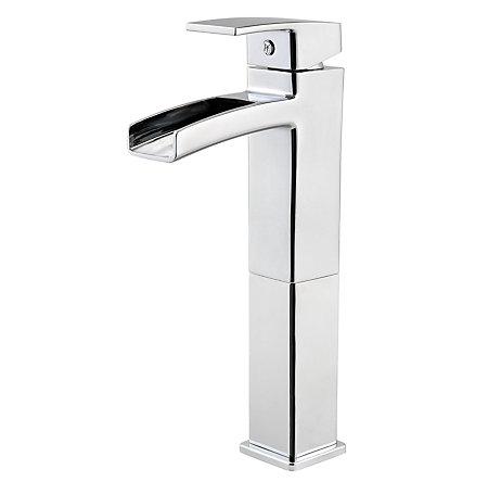 Polished Chrome Kenzo Vessel Bath Faucet - T40-DF0C - 1
