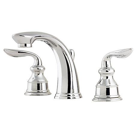 Polished Chrome Avalon Widespread Bath Faucet - T49-CB0C - 1