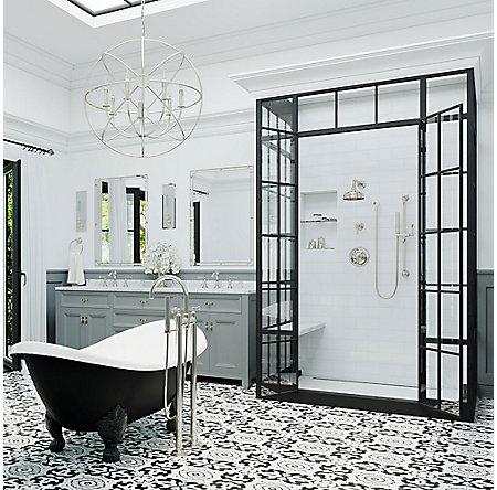 Polished Chrome Tisbury 1-Handle Tub & Shower, Trim Only - LG89-8TBC - 5