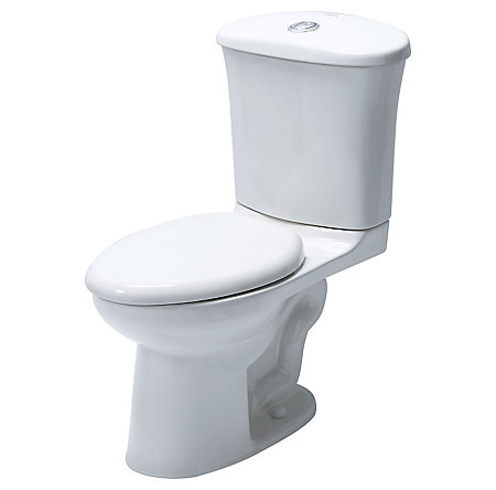 White Treviso Two Piece, Dual Side Flush Toilet - VTP-E21W  - 1