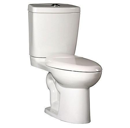 White Pfister Elongated Two Piece Toilet - VTP-E31W - 1