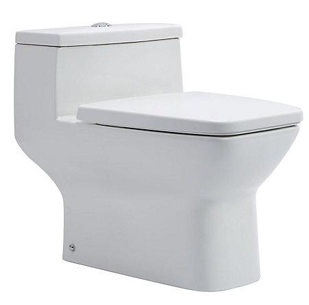 White Selia One Piece, Dual Flush Toilet - VTP-E80W - 1