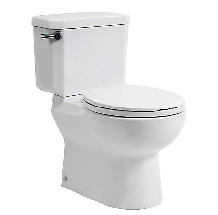 White Fullerton Two Piece, Dual Side Flush Toilet - VTP-R31W  - 1