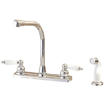Polished Chrome Classic 2-Handle Kitchen Faucet - WK2-740C - 1
