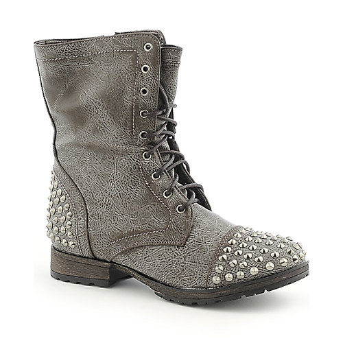 Breckelles Georgia-28 womens military/combat mid calf high heel boot