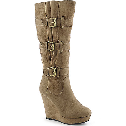 Diva Lounge Reee-10 womens platform knee high wedge high heel boot