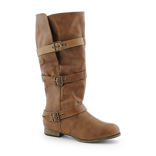 Wild Diva Womens Tosca-15 brown fold over riding boot