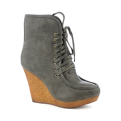 Wild Diva Jayma-04 platform wedged ankle boot