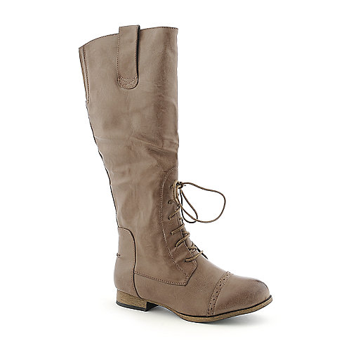 Diva Lounge Tosca-46 womens military/combat mid calf low heel boot