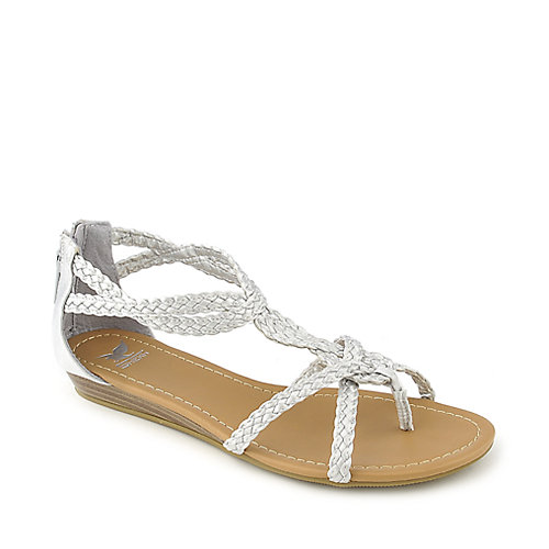 325d73e905f76b Shiekh Touch-S silver flat gladiator strappy sandal