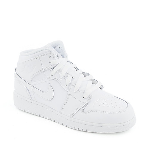 Nike Air Jordan 1 Mid youth athletic basketball sneaker