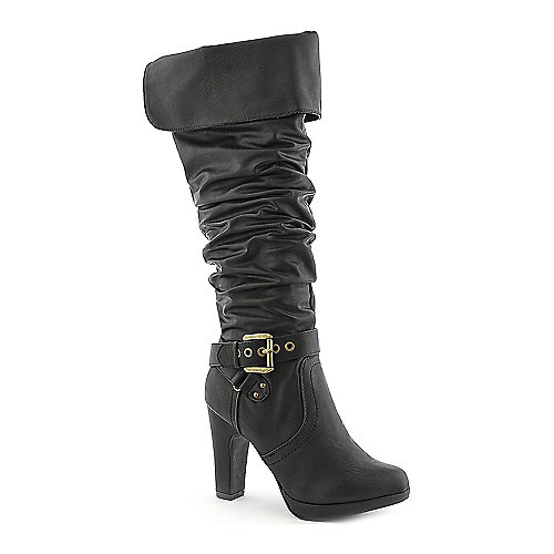 City Classified Terry-S womens knee high high heel western/riding boot