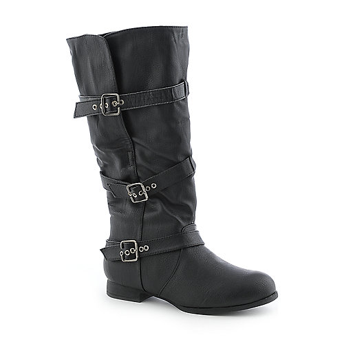 Wild Diva Womens Tosca-15 black fold down riding boot