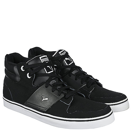 puma el ace ii men 39 s black casual lace up sneaker shiekh shoes. Black Bedroom Furniture Sets. Home Design Ideas