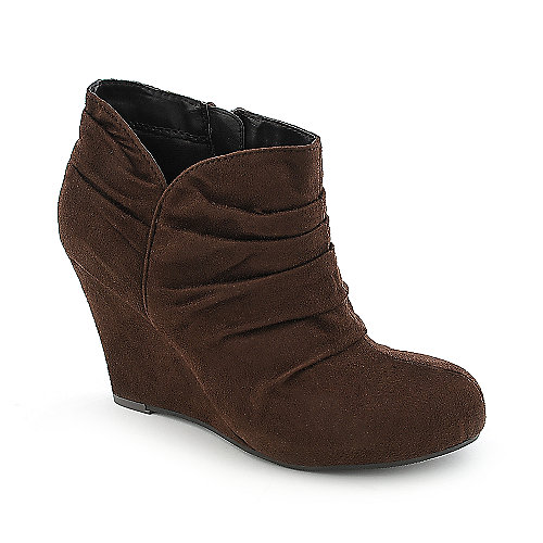 Delicious Aubina-S womens platform wedge ankle boot