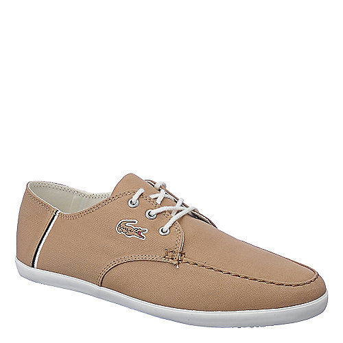 Lacoste Aristide mens tan casual lace up sneaker