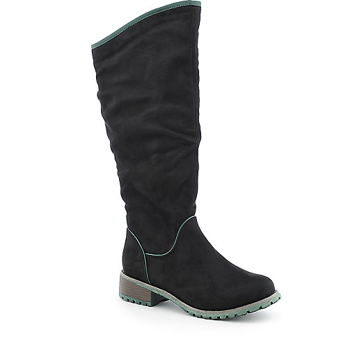 Womens knee riding high low heel boots
