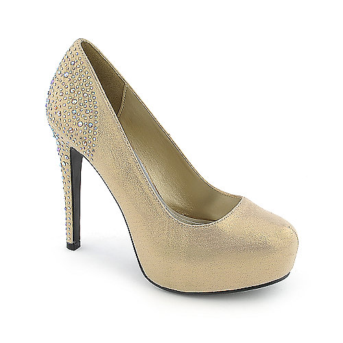 Delicious Tower-H womens high heel evening platform dress shoe
