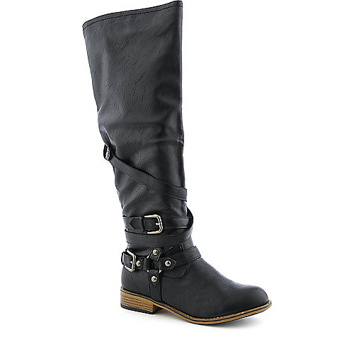 Bamboo Parksville-10 womens knee high western/riding low heel boot