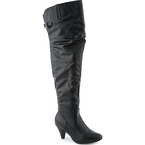 Bamboo Neat-09 womens low heel knee high boot