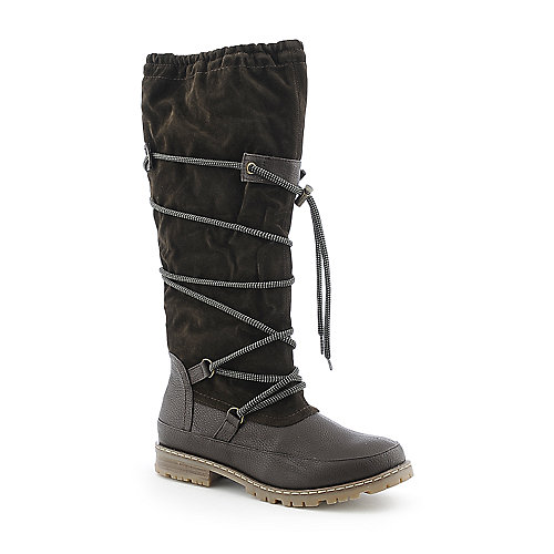 Story Forest-4 womens knee high low heel riding boot