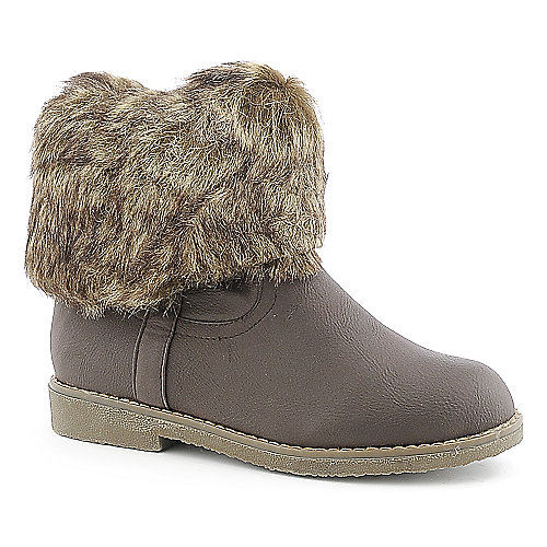 Refresh Eleanor-02 womens mid calf low heel fur boot