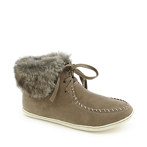 Bamboo Sidony-14 womens flat fur ankle boot