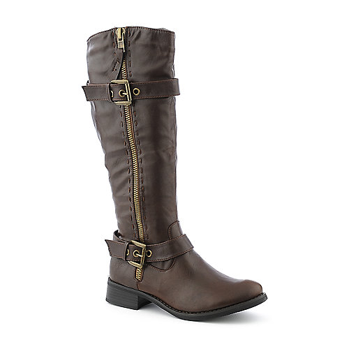 Cleopatra Tyler womens mid calf low heel western/riding boot