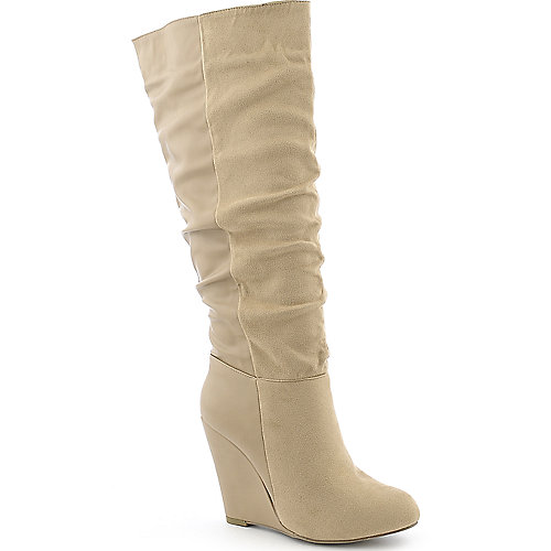 Diva Lounge Lorelel-11 womens natural knee high wedge boot