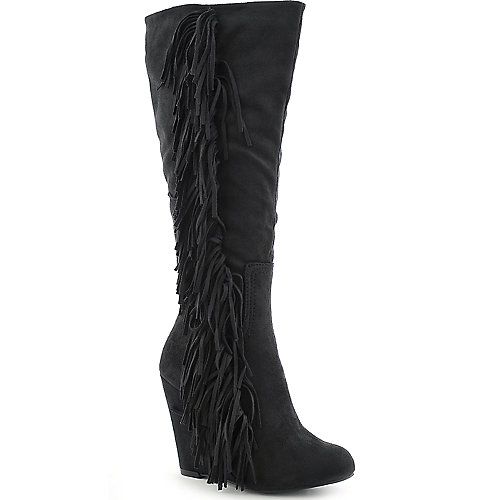 Diva Lounge Lorelei-01 womens knee high wedge high heel boot