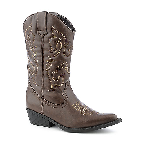 Madden Girl Sanguine womens low heel mid calf western/riding boot