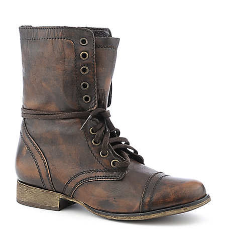 Steve Madden Troopa womens military/combat low heel boot