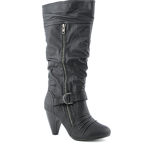 Yoki Sylvia-28 womens mid calf high heel boot