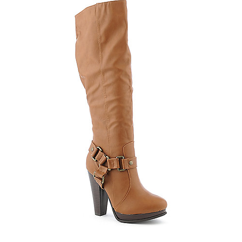 Bamboo Magnet-22 womens knee high platform high heel boot