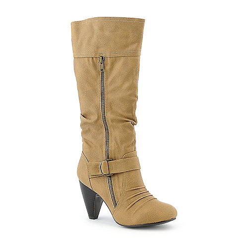 Yoki Sylvia-28 womens high heel mid-calf boot