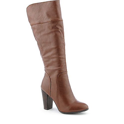 Dollhouse Spirit womens chestnut knee high boot