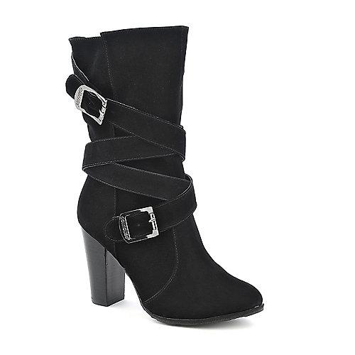 a3b48a2f5274 Dollhouse Dare mid calf high heel boot