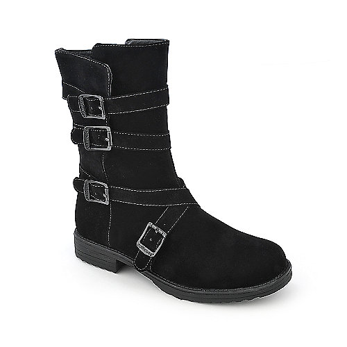 Dollhouse Proud low heel black ankle riding boot